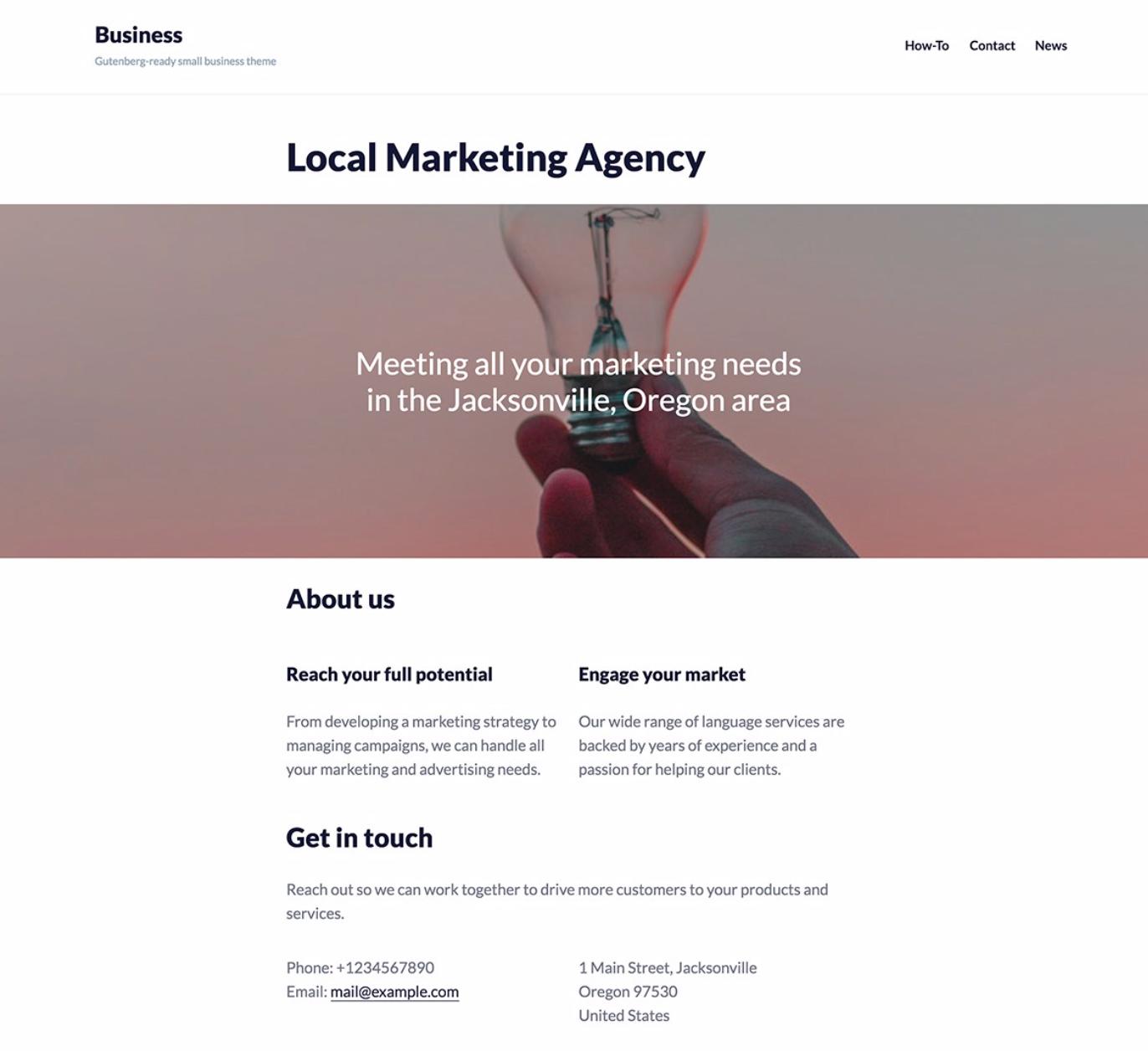 Una página web minimalista pero atractiva hace que Google recomiende tu negocio local en las primeras páginas de resultados